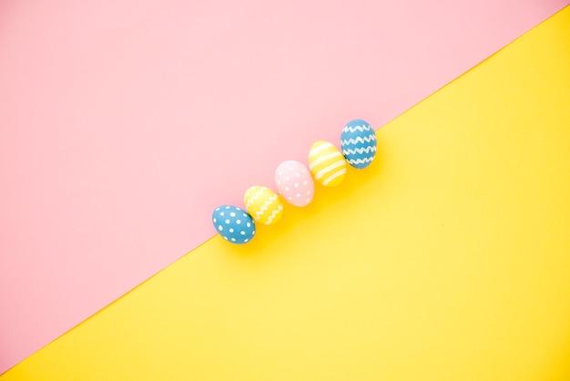 Row of bright eggs