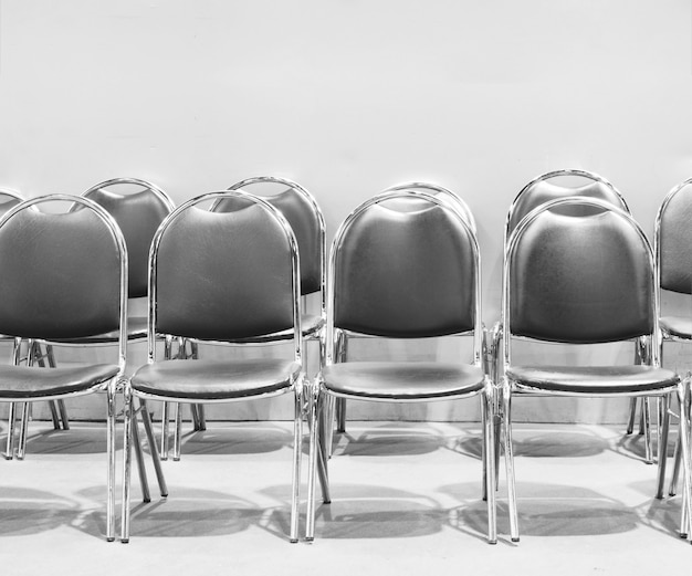 Row of chairs for waiting.