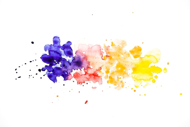 Row of colorful splash watercolor background