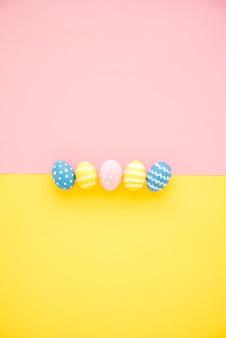 다채로운 부활절 달걀의 행