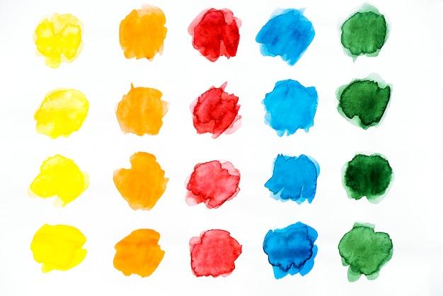Row of watercolor splatter