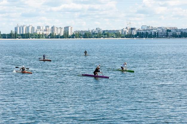 Rowing boat kayak
