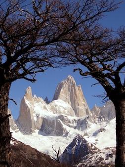Рой торре аргентина патагония снег серро фитц