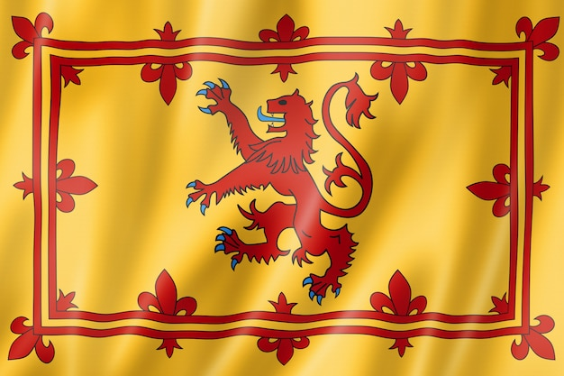 Royal banner of scotland, uk
