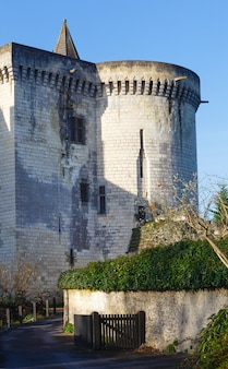 Royal city of loches (france) spring view. was constructed in the 9th century.
