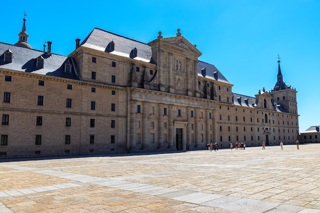 Royal monastery of el escorial. huge palace on the outskirts of madrid, former residence of kings of spain and europe. unesco.