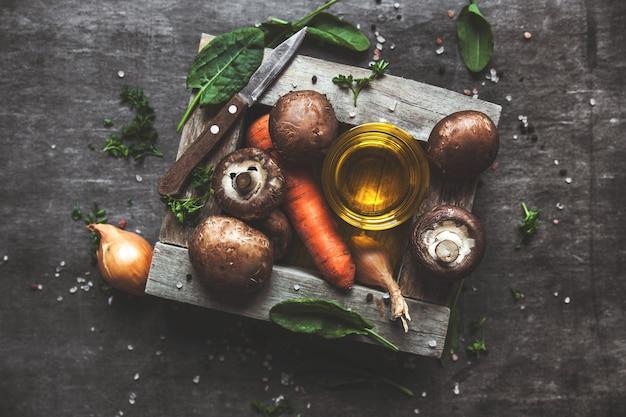 Королевские грибы на сковороде. готовые блюда.