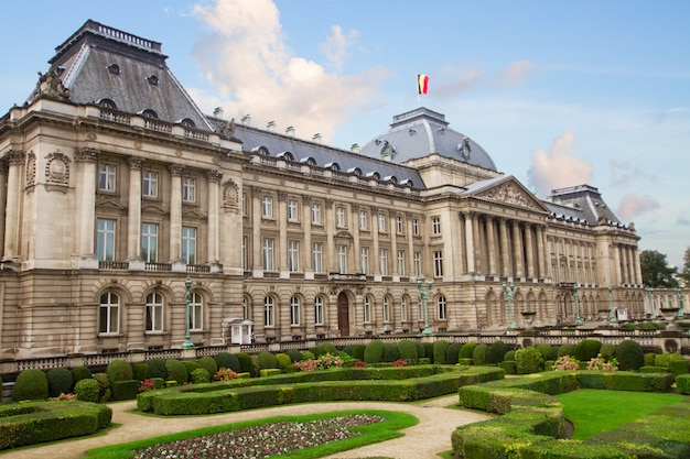 The royal palace of brussels with garden, belgium