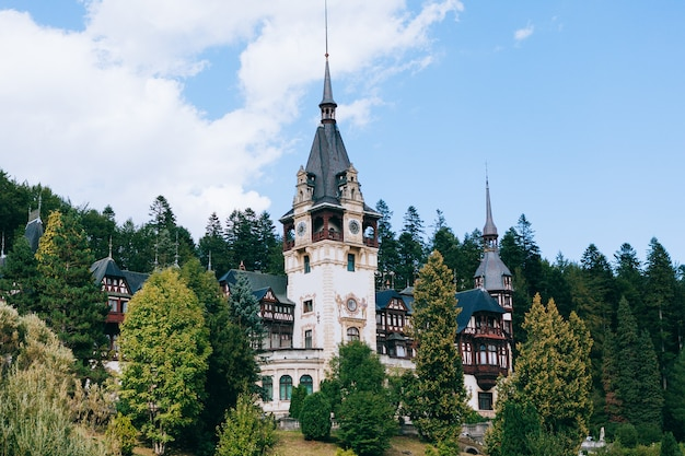 Royal palace of peles in the mountain town of sinaia in romania