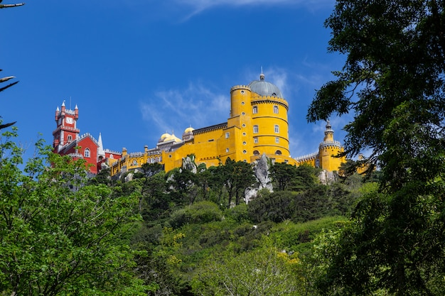 Royal palace pena in sintra, portugal.