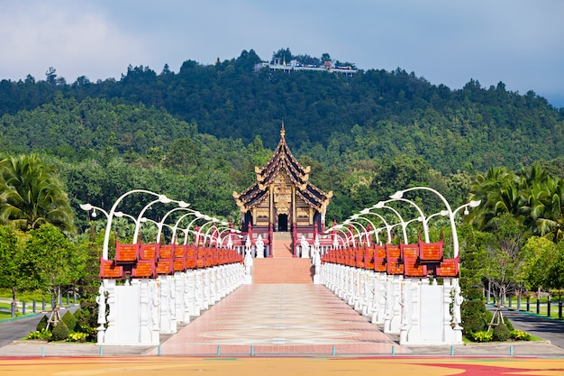 Royal park rajapruek temple in chiang mai in thailand
