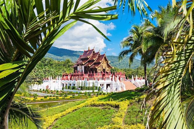 Royal park rajapruek temple in chiang mai in thailand