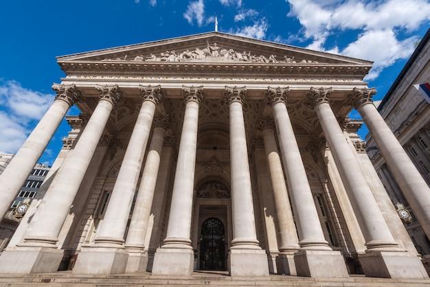 The royal stock exchange, london, england, uk.