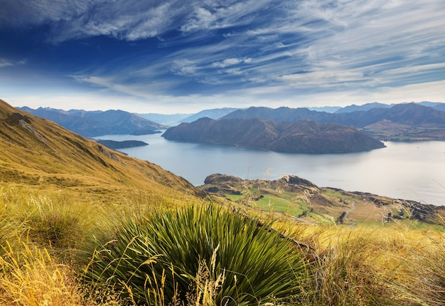 Roys peak. new zealand. lake wanaka