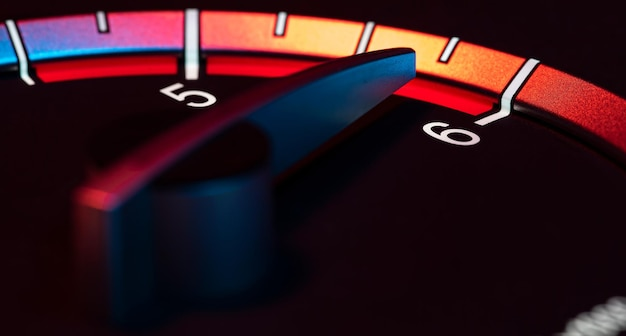 Rpm car odometer detail symbol of power and speed