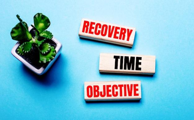 Rtoの頭字語recoverytime management、カット紙のハードライトの言葉