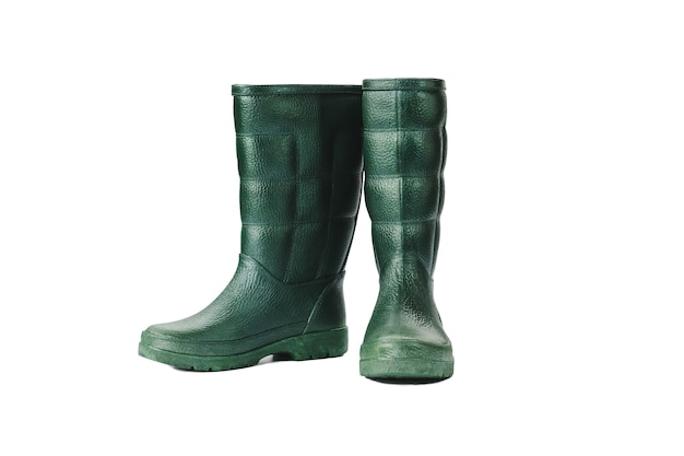 Rubber boots waterproof isolated on white background, with clipping path.