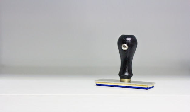 Rubber stamps on white background
