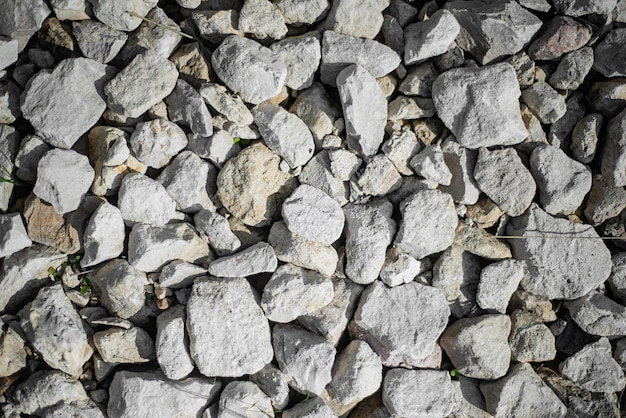 Rubble texture, gravel on the road close up
