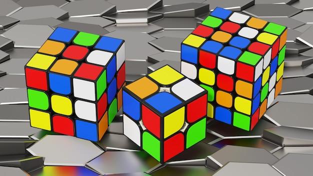 Rubik cube rendering