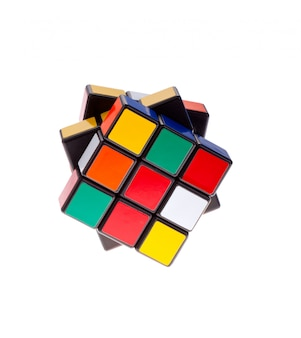 Rubik's cube isolated on a white