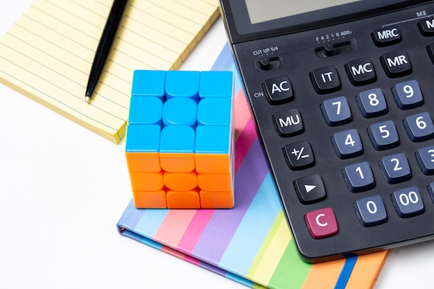Rubik's cube and office tools