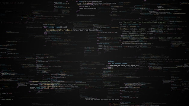 Rubyプログラミングコードの背景