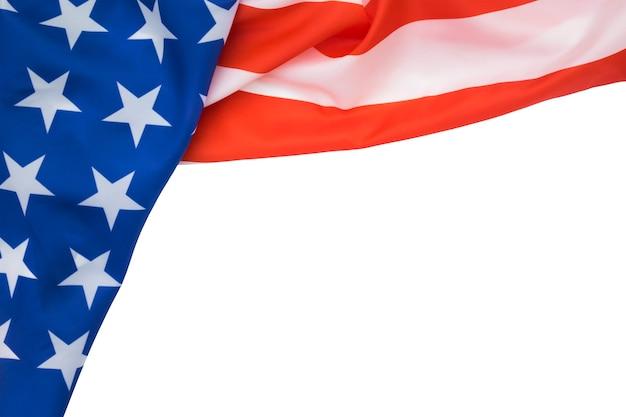 프릴 미국 국기 흰색 배경에 고립