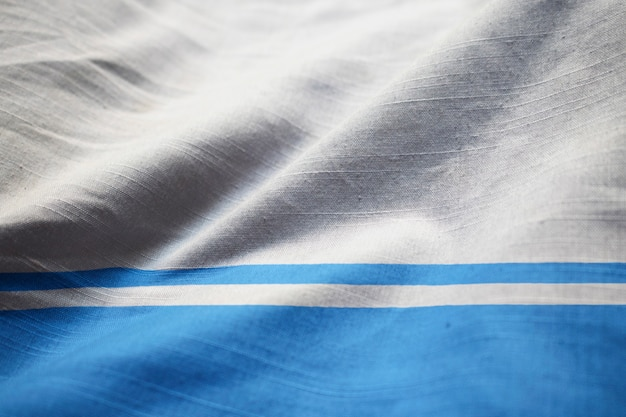 Ruffled flag of altai republic blowing in wind