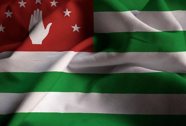 바람에 날리는 abkhazia의 뻗 치고 기