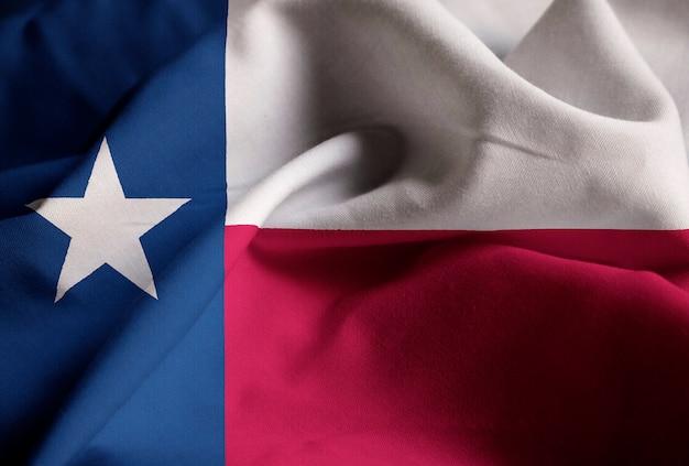 Ruffled flag of texas