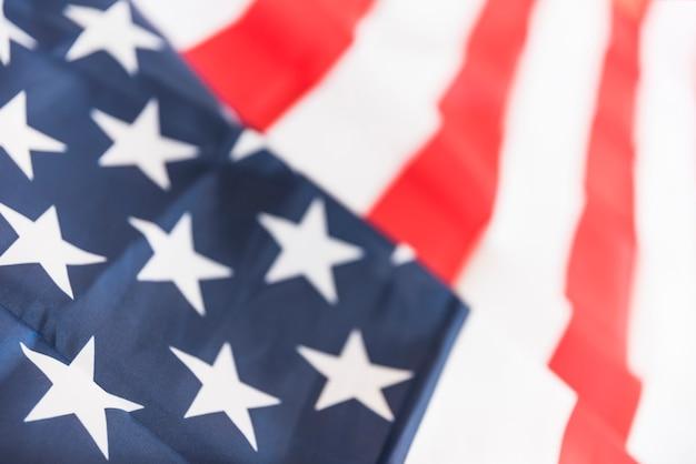 Ruffled flag of usa