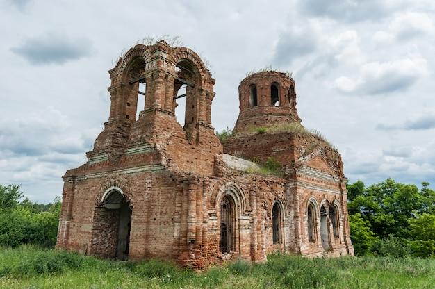 Ruined church in the village bacino