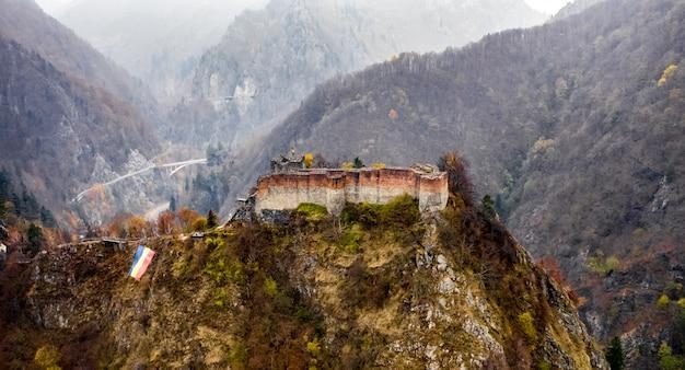 Ruined poenari castle
