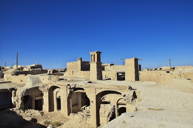 Ruins of abandoned city nain in iran