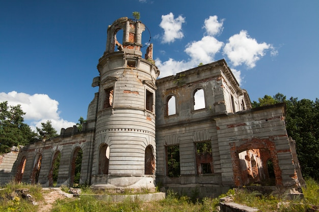 Ruins of an ancient castle tereshchenko grod in zhitomir, ukraine