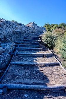 Ruins of ancient stageira city in halkidiki greece