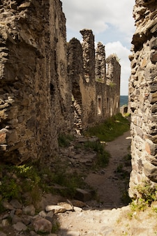 Ruins of castle nevytske in transcarpathian region.