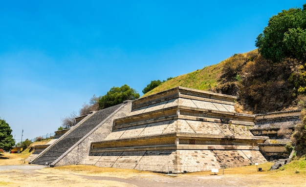 Ruins of the great pyramid of cholula in mexico