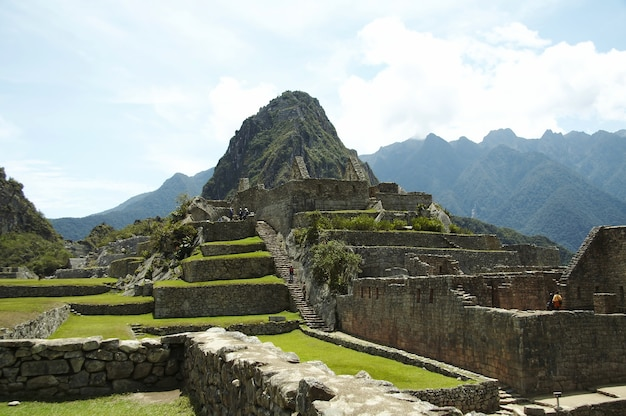 失われたインカの都市マチュピチュ、ペルーの遺跡