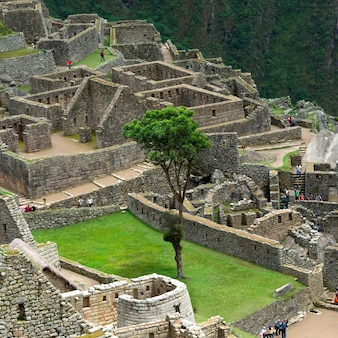 Ruins of the lost city of the incas, machu picchu, cusco region, peru