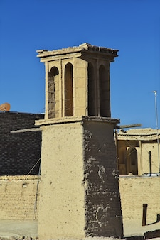 Руины заброшенного города наин в иране