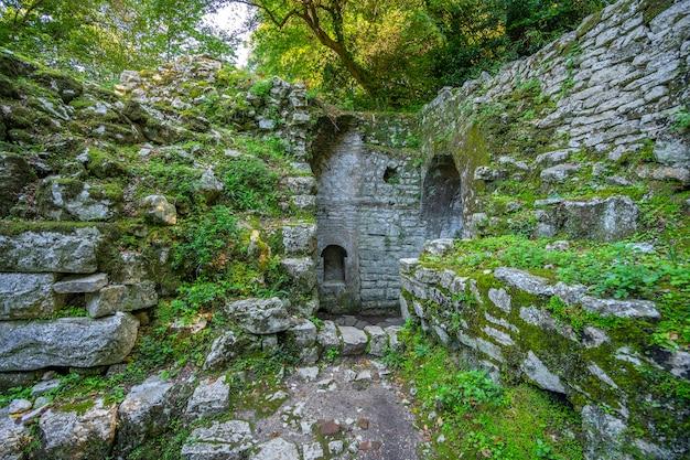 Butrint의 고대 도시 유적. 알바니아.