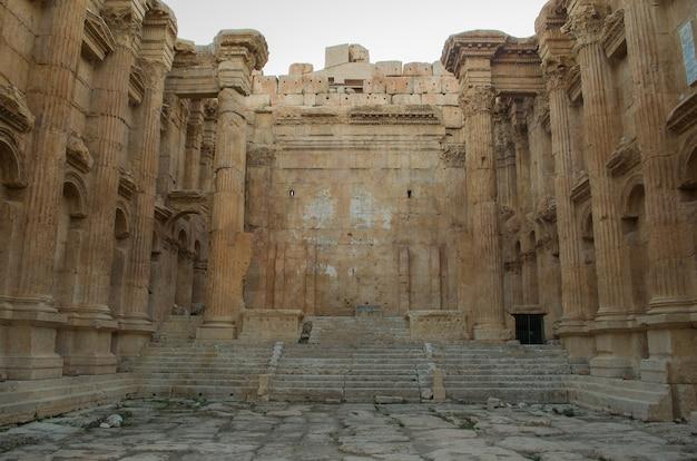 レバノンのバールベックの遺跡