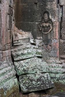 Руины храма бантей-кдей, ангкор, сием-рип, камбоджа