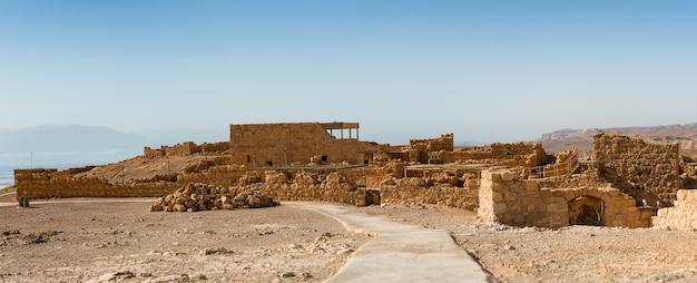 Руины масады, древние укрепления в южном округе израиля