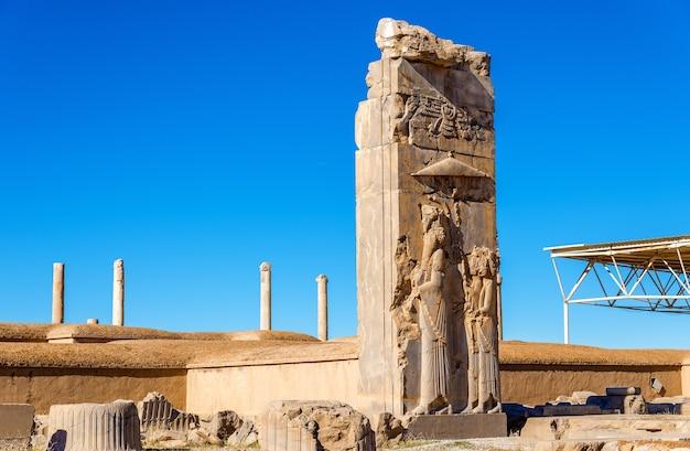아케 메니 드 제국의 수도 인 페르 세 폴리스 유적