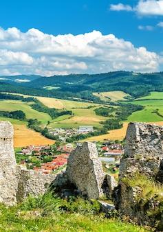 中央ヨーロッパ、スロバキアのユネスコ世界遺産、スピシュ城の遺跡