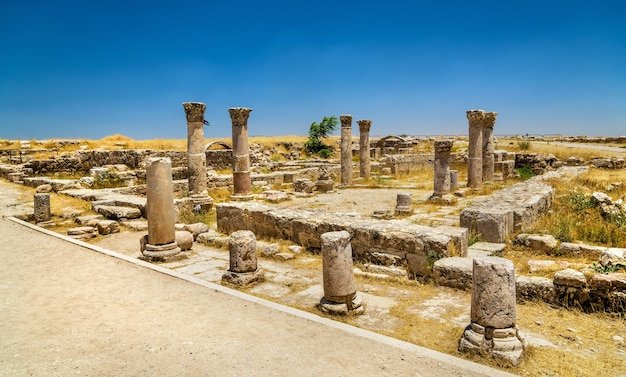 ヨルダンのアンマン城塞にあるビザンチン教会の遺跡