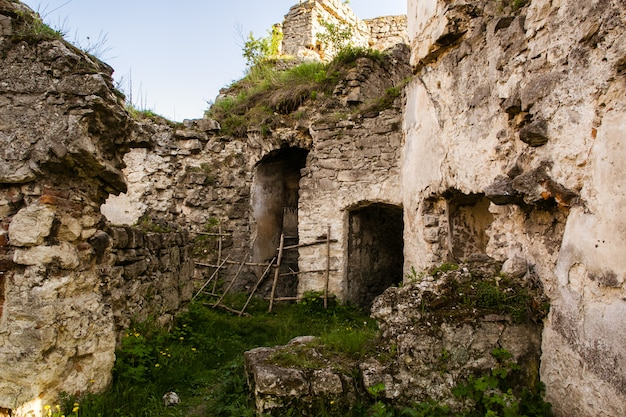 Ruins of old fortress in chortkiv, ukraine